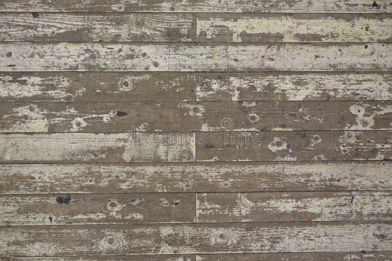 Farbe-abgezogener weißer Bretterboden-Planken-Hintergrund lizenzfreie stockbilder