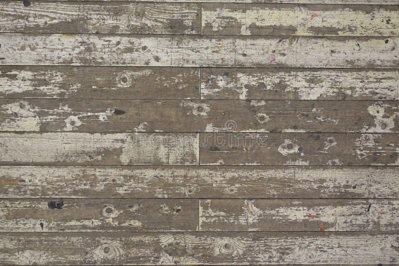 Farbe-abgezogener weißer Bretterboden-Planken-Hintergrund stockbilder