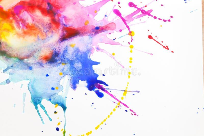 Farbe auf einem Blatt Papier stockbilder