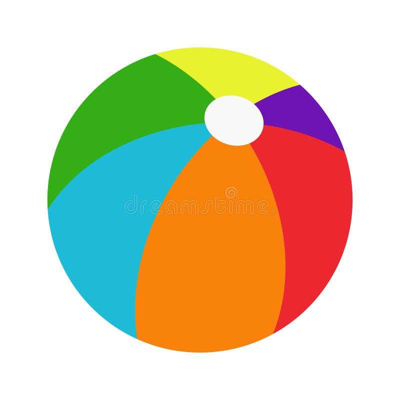 Farbe-beachball lizenzfreie abbildung