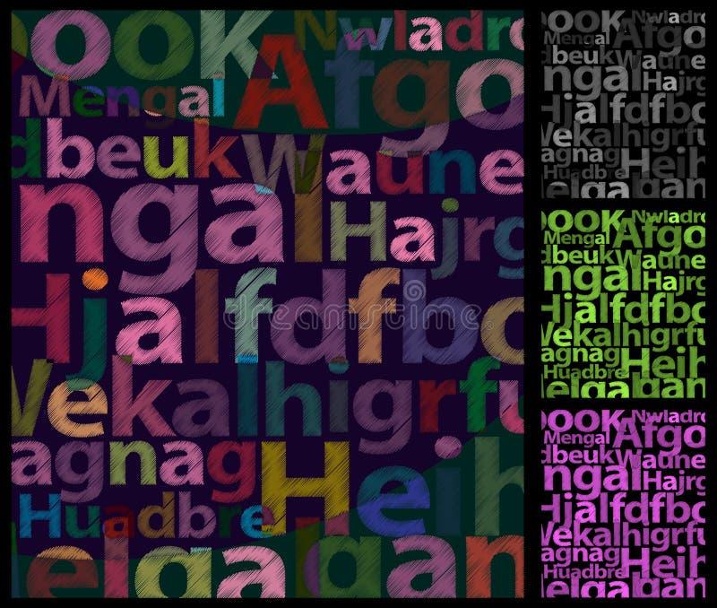 Farbe bezeichnet Hintergrund mit Buchstaben. lizenzfreie abbildung