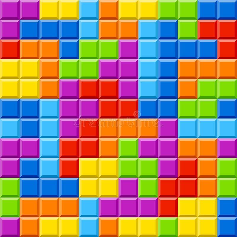 Farbe blockt Hintergrund stock abbildung
