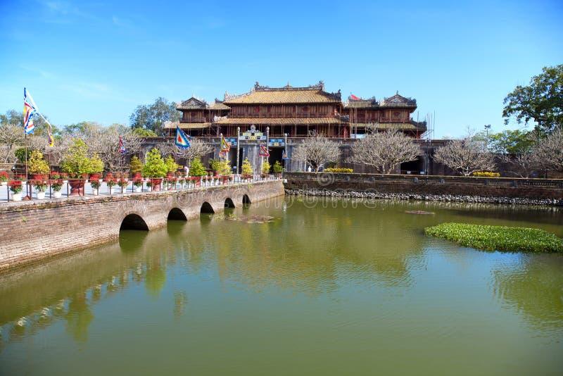 Farbe der Verbotenen Stadt, Vietnam stockbilder