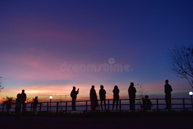 Farbe des Sonnenaufgangs lizenzfreie stockfotos