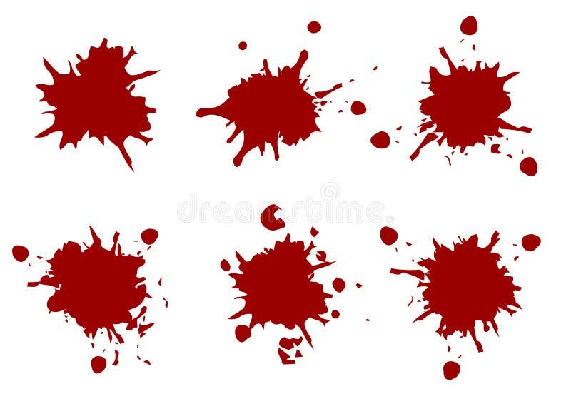 Farbe des Vektors rote Farbplätschern, plätschern Satzsammlung, illustr vektor abbildung