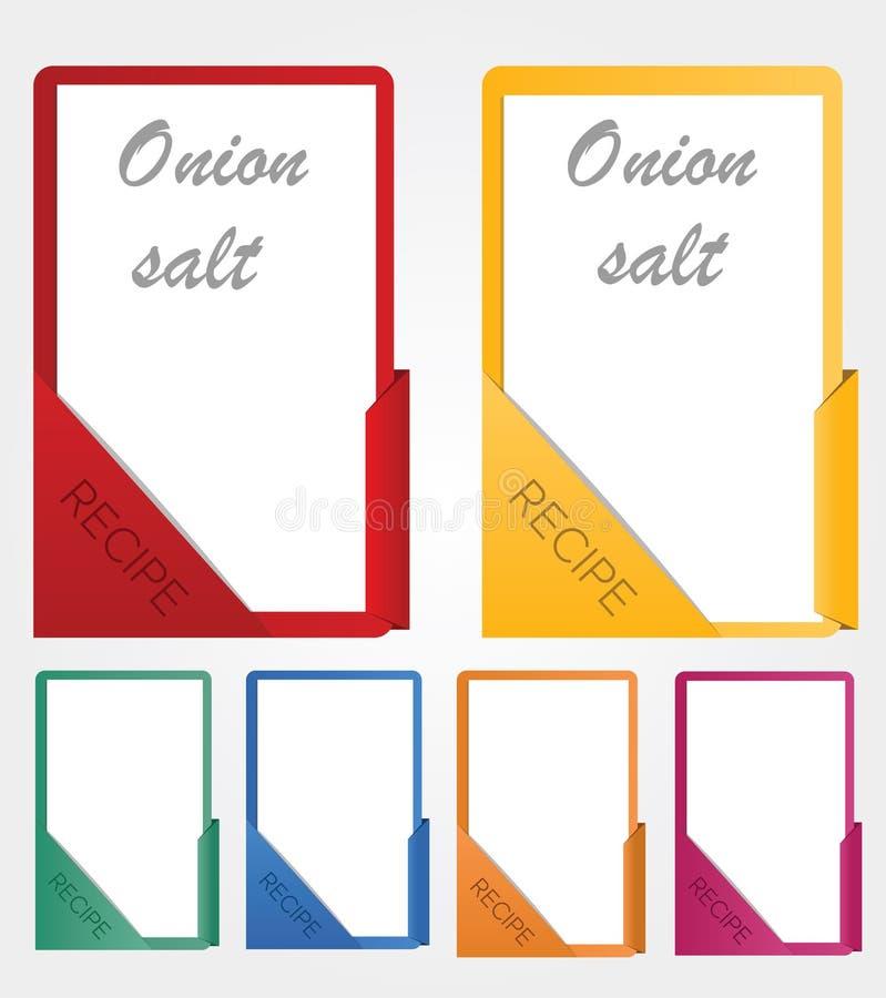 Farbe, die Rezeptschablone für Küche kocht lizenzfreie abbildung