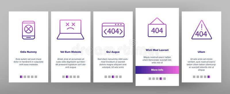 Farbe-404 HTTP-Fehlermeldungs-Vektor Onboarding vektor abbildung