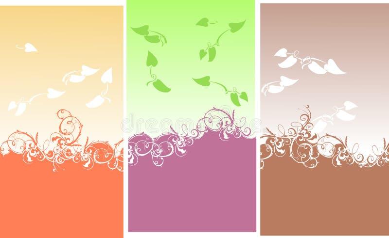 Farbe kurvt Blatt-Hintergrund lizenzfreie abbildung