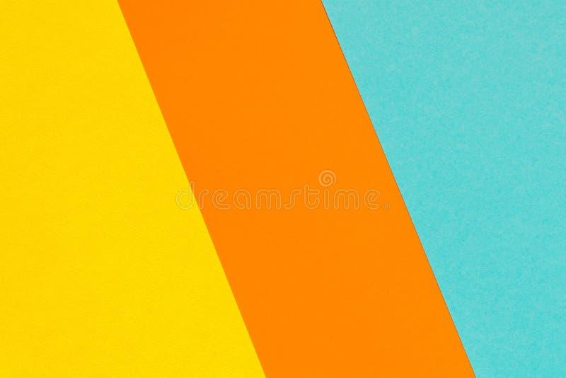 Farbe neigt Hintergrund Gelb-orangeer blauer abstrakter geometrischer Hintergrund lizenzfreies stockfoto