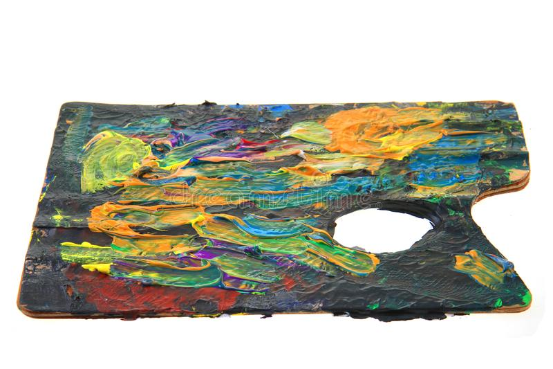 Farbe-pallette lokalisiert lizenzfreies stockfoto