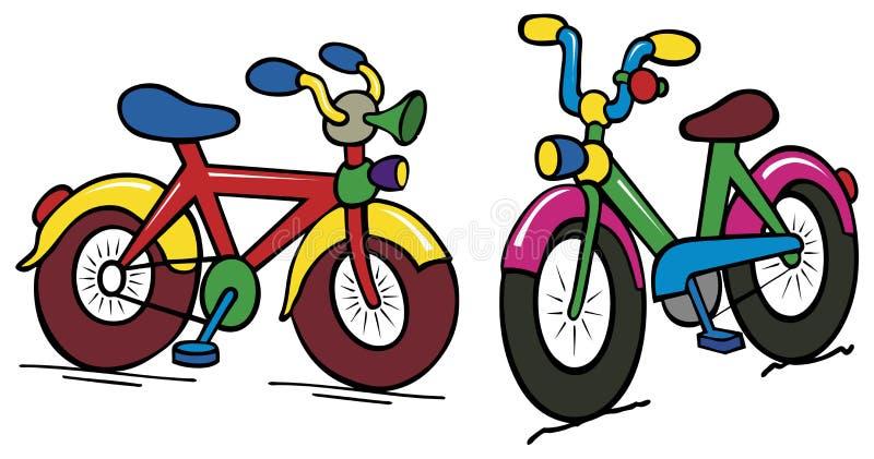 Farbe scherzt Fahrrad lizenzfreie abbildung