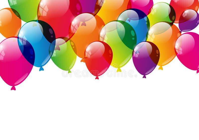 Farbe steigt Hintergrund im Ballon auf vektor abbildung