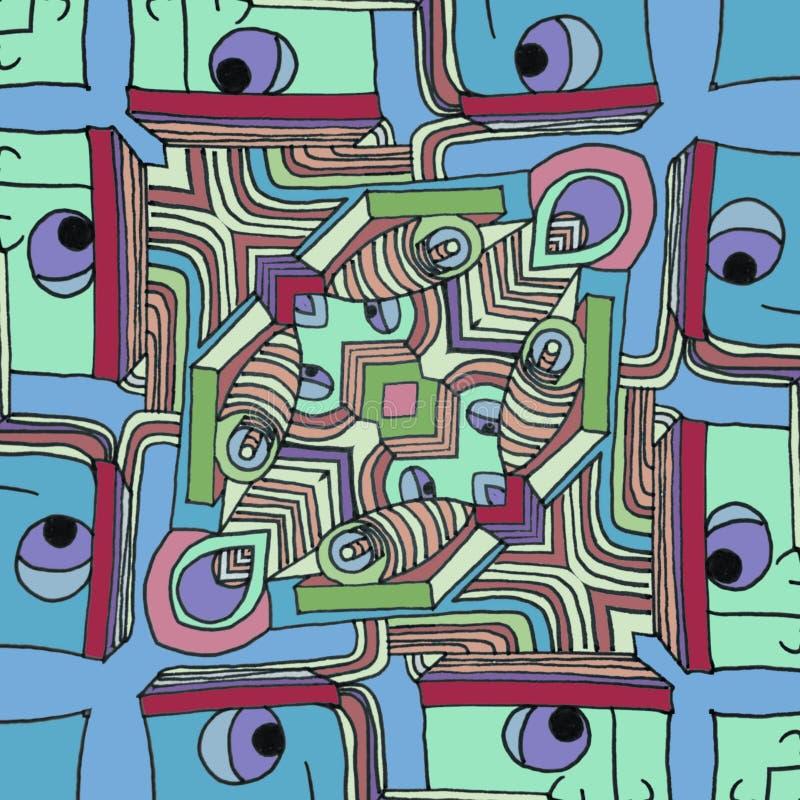 Farbe stellt - abstrakten lustigen Karikaturhintergrund gegenüber vektor abbildung
