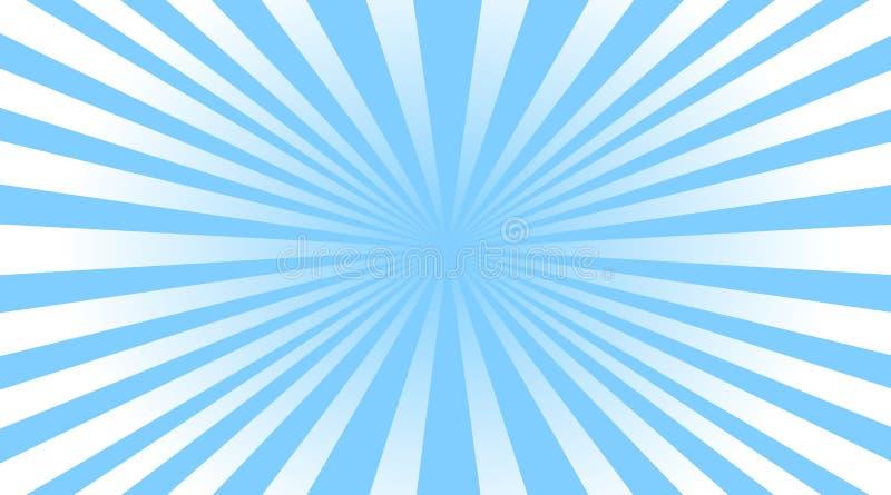 Farbe strahlt Streifenhintergrund vektor abbildung