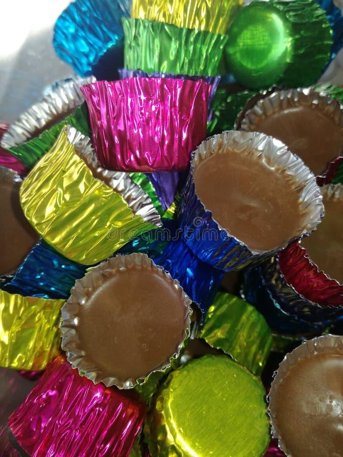 Farbe und Schokolade lizenzfreie stockfotografie