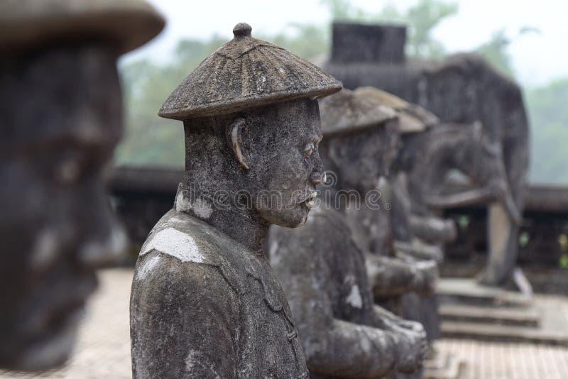Farbe, Vietnam: Königliches Grab stockfotografie
