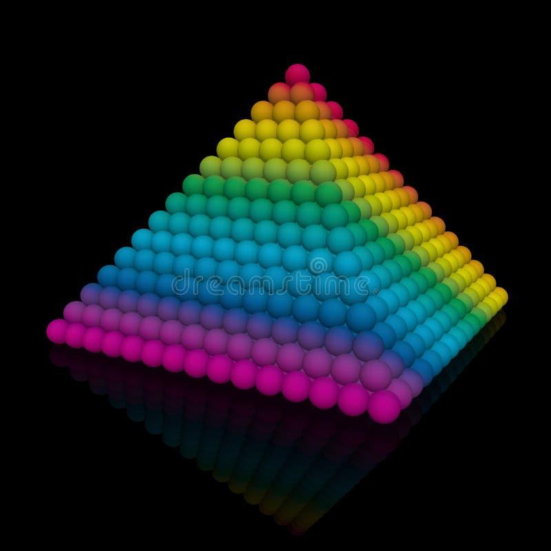 Farbe-volle Pyramide vektor abbildung