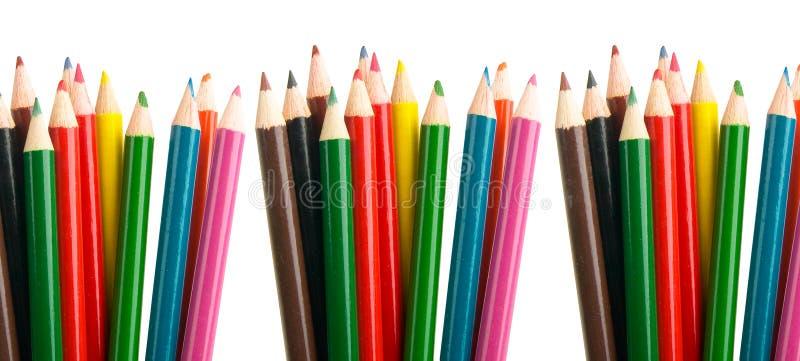 Farbe zeichnet Bleistifte stockfotos