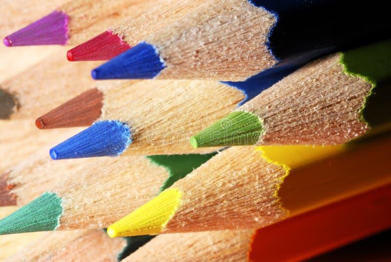 Farbe zeichnet Makro an stockbilder