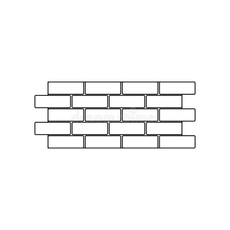 Farbebacksteinmauerikone Element von Bauwerkzeugen f?r bewegliches Konzept und Netz Appsikone Entwurf, d?nne Linie Ikone f?r Webs vektor abbildung