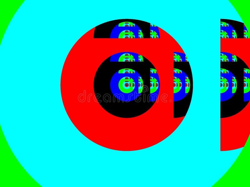 Farbefractalhintergrund vektor abbildung