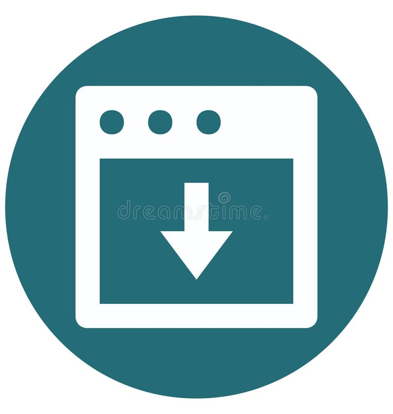 Farbeglyph-Vektor-Ikone des Downloading-Symbol-zwei lokalisiert und Editable vektor abbildung