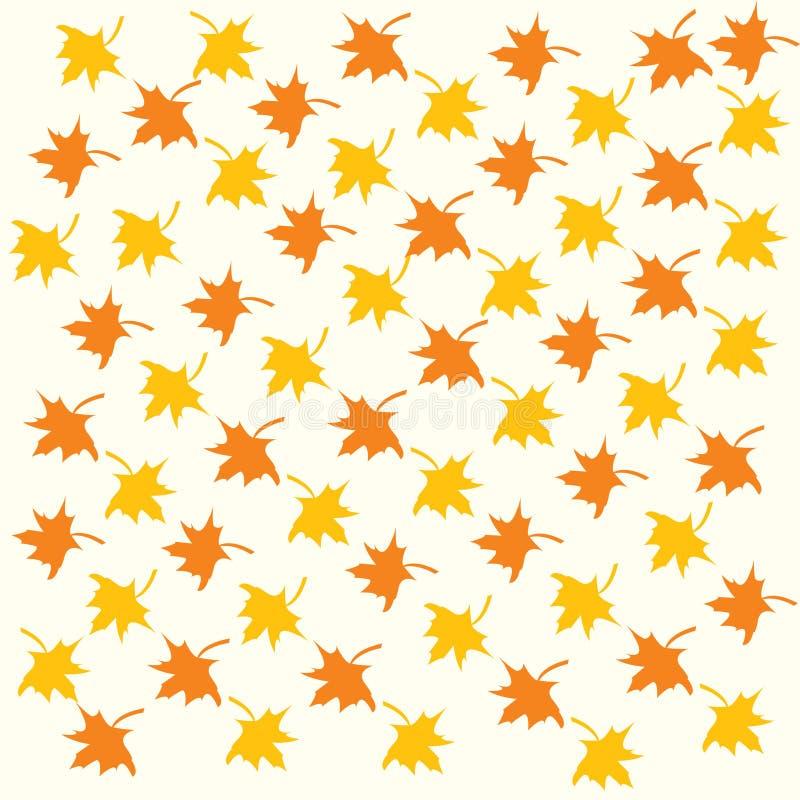 Farben-Ahornblätter lizenzfreie abbildung