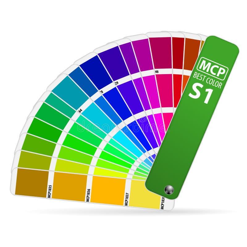 Farben-Anleitung lizenzfreie abbildung