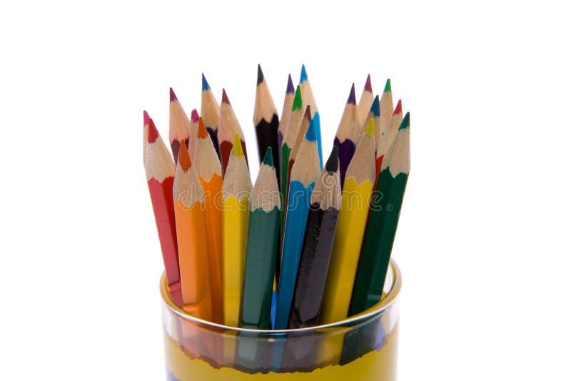 Farben-Bleistifte lizenzfreie stockbilder