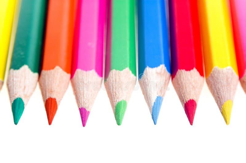 Farben-Bleistifte stockfoto