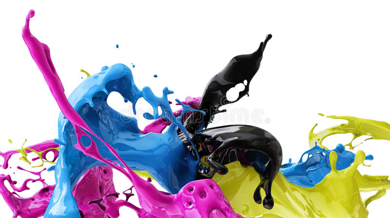 Farben CMYK lizenzfreie stockfotos