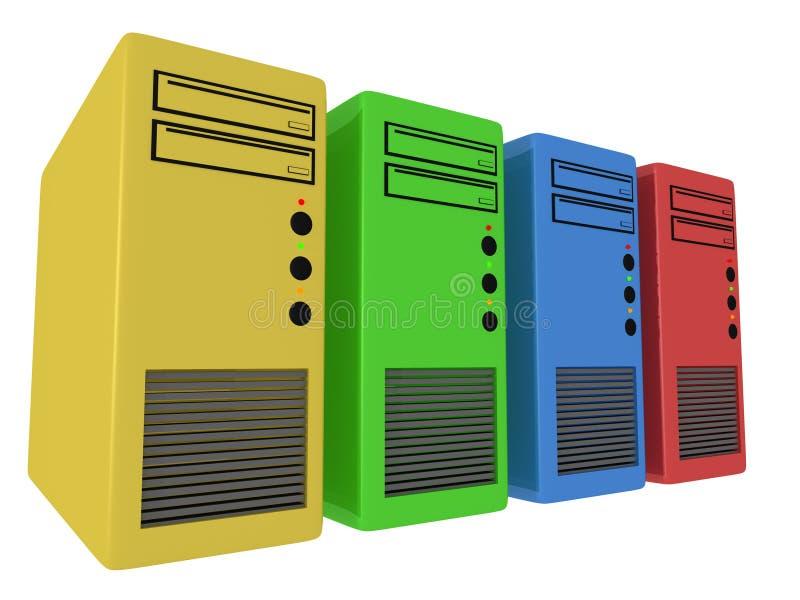 Farben-Computer lizenzfreie abbildung