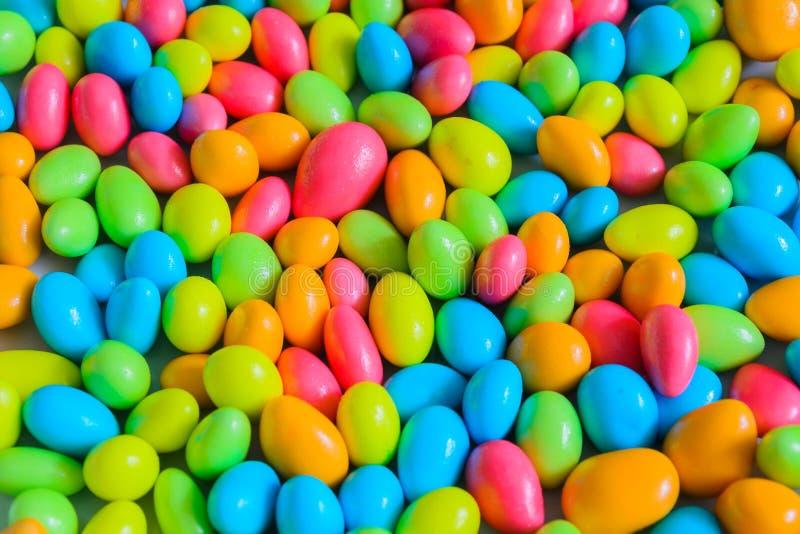 Farben der überzogenen Schokolade lizenzfreies stockfoto