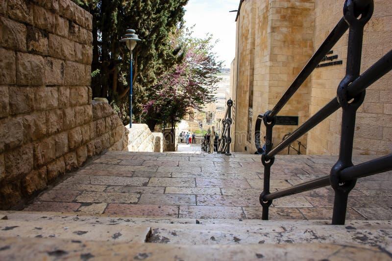 Farben der alten Stadt von Jerusalem lizenzfreies stockbild