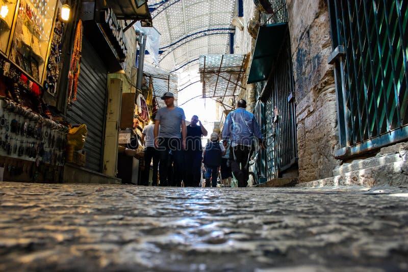 Farben der alten Stadt von Jerusalem lizenzfreies stockfoto