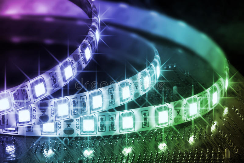 Farben der LED lizenzfreie stockbilder