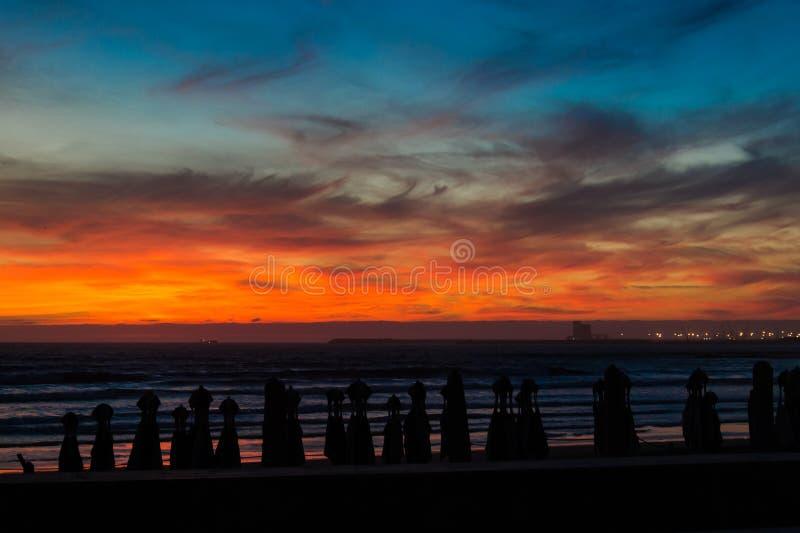 Farben des afrikanischen Himmels stockfoto