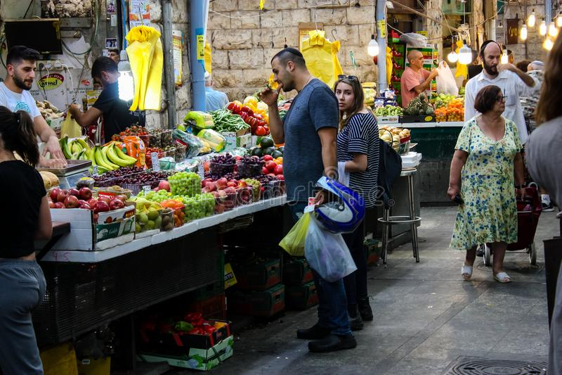 Farben des Marktes von Jerusalem stockfotografie