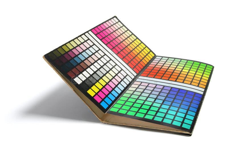 Farben-Diagramm stockfoto