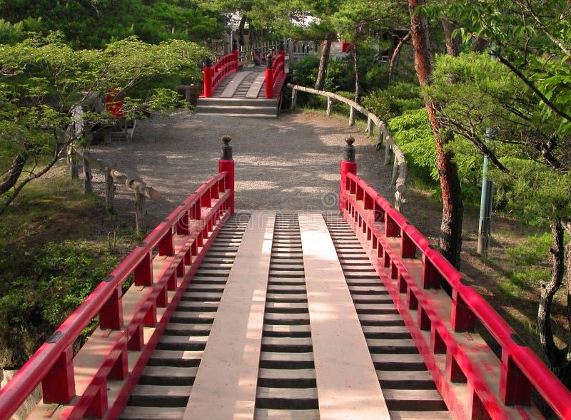 Farben in einem japanischen Garten stockbild