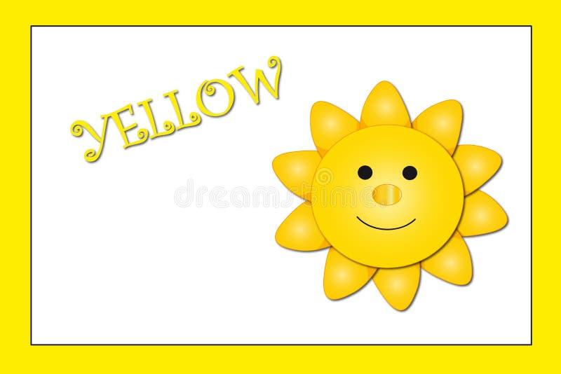 Farben: Gelb lizenzfreie abbildung