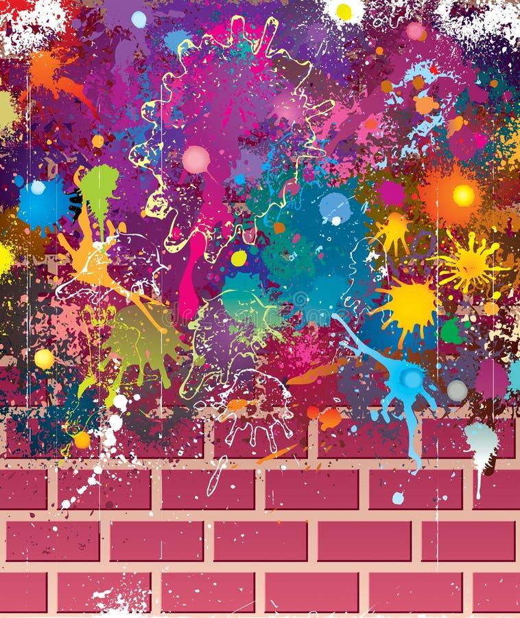 Farben Grunge Wand stock abbildung