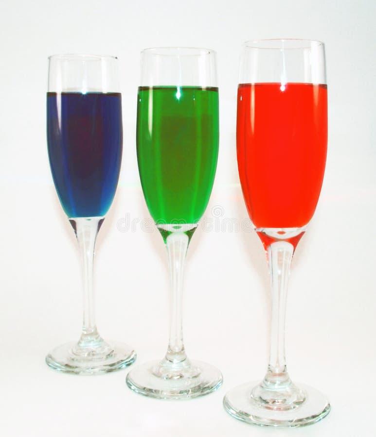 Farben im Glas stockfotos