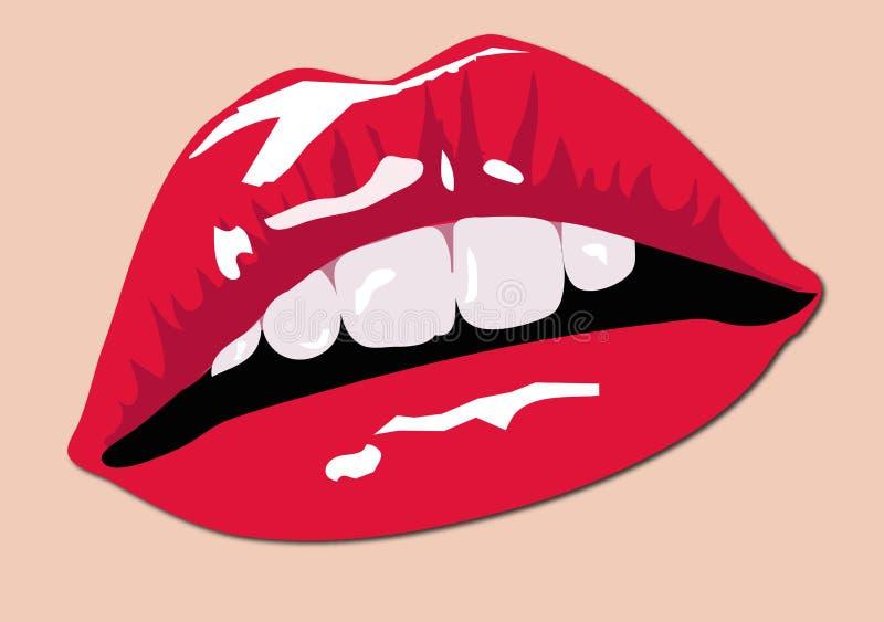 Farben-Lippen lizenzfreie abbildung