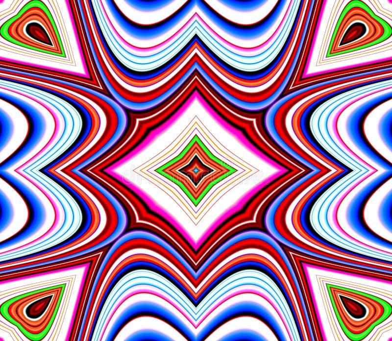 Farben-Muster-Fliese-Muster-Hintergrund 26 stock abbildung