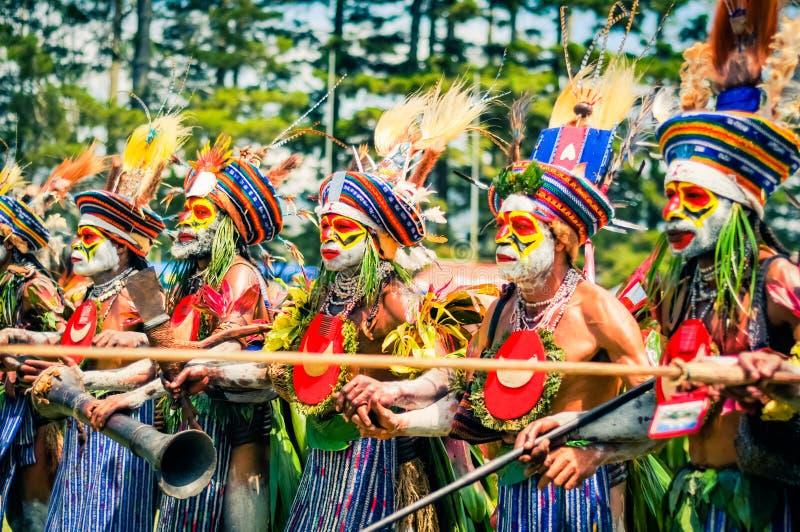 Farben in Papua-Neu-Guinea lizenzfreie stockbilder