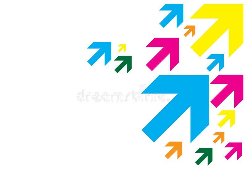 Farben-Pfeile stock abbildung
