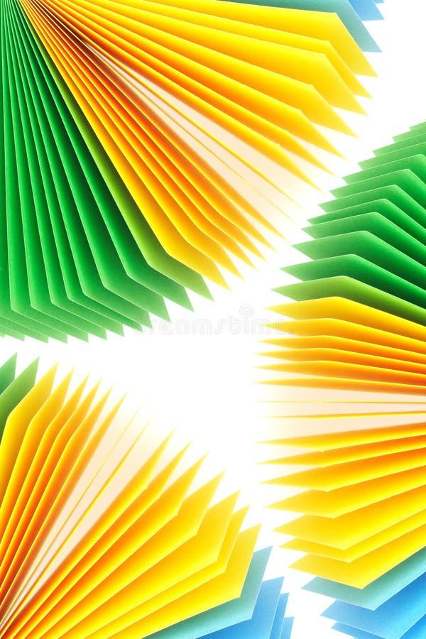 Farben-Protokoll-Papiere lizenzfreies stockfoto