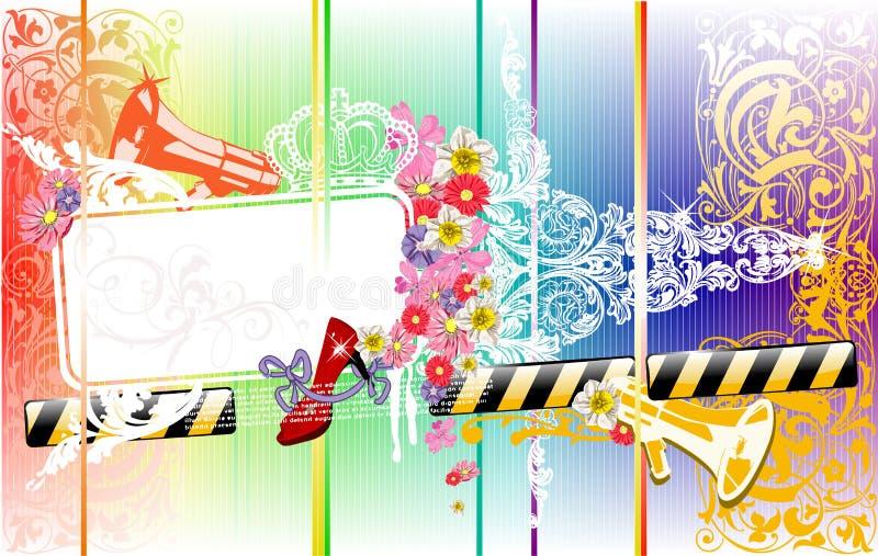 Farben-Rückseite für Text Flayer lizenzfreie abbildung