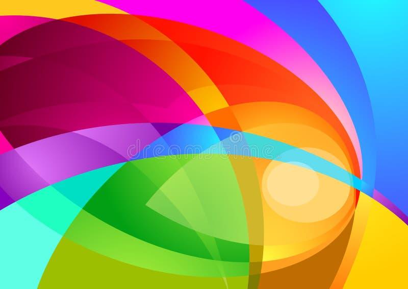 Farben-Spritzen-Hintergrund lizenzfreie abbildung